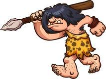 Hombre de las cavernas de la caza stock de ilustración