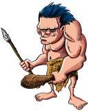 Hombre de las cavernas o troglodita de la historieta ilustración del vector