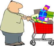 Hombre de las compras ilustración del vector