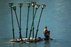 Hombre de las lámparas Foto de archivo