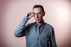 Hombre de las lentes Imagen de archivo libre de regalías
