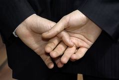 Hombre de las manos Foto de archivo libre de regalías