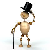 Hombre de madera de Gentelman Imagen de archivo libre de regalías