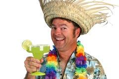 Hombre de Margarita - feliz Foto de archivo