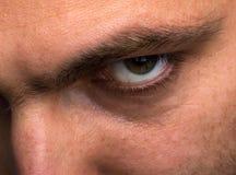 Hombre de mirada malvado Fotografía de archivo