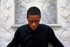 Hombre de mirada malvado Imagen de archivo