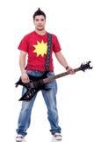 Hombre de moda con la guitarra eléctrica Imagen de archivo