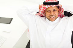 Hombre de negocios árabe que se relaja Fotografía de archivo libre de regalías