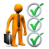 Hombre de negocios Abstract Checklist Imagen de archivo