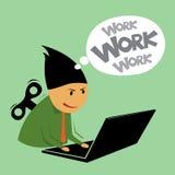 Hombre de negocios abstracto del trabajo duro. Imágenes de archivo libres de regalías