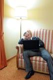 Hombre de negocios aburrido Fotografía de archivo libre de regalías