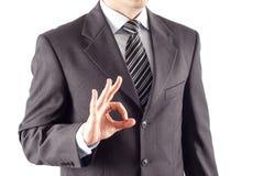 Hombre de negocios aceptable Fotos de archivo libres de regalías