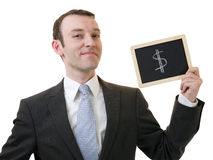 Hombre de negocios acertado Fotos de archivo libres de regalías