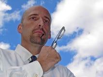 Hombre de negocios acertado Imagen de archivo libre de regalías