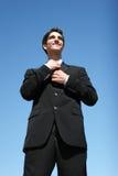 Hombre de negocios acertado Fotografía de archivo