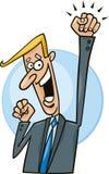 Hombre de negocios acertado stock de ilustración