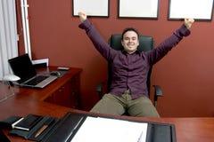 Hombre de negocios acertado Fotografía de archivo libre de regalías