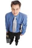 Hombre de negocios acertado foto de archivo