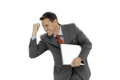 Hombre de negocios acertado Foto de archivo libre de regalías