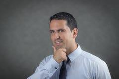 Hombre de negocios acertado del latino Foto de archivo libre de regalías