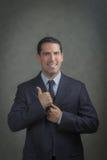 Hombre de negocios acertado del latino Fotografía de archivo
