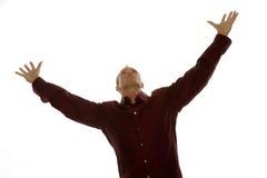 Hombre de negocios acertado emocionado Imagenes de archivo