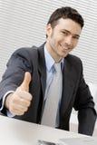 Hombre de negocios acertado feliz Imagen de archivo