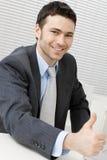 Hombre de negocios acertado feliz Imagen de archivo libre de regalías