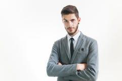 Hombre de negocios acertado joven Imagen de archivo libre de regalías