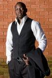 Hombre de negocios africano Foto de archivo libre de regalías