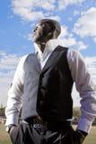 Hombre de negocios africano Fotos de archivo