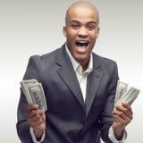 Hombre de negocios africano joven acertado Imagen de archivo libre de regalías