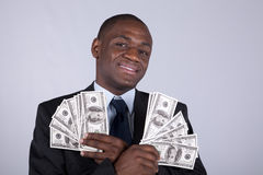 Hombre de negocios africano rico Imagenes de archivo