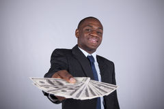 Hombre de negocios africano rico Foto de archivo libre de regalías