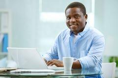 Hombre de negocios afroamericano Fotografía de archivo