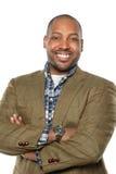 Hombre de negocios afroamericano Smiling foto de archivo libre de regalías