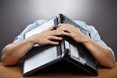 Hombre de negocios agotado Fotos de archivo libres de regalías