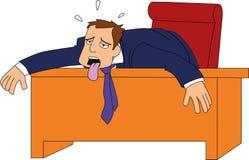 Hombre de negocios agotado ilustración del vector
