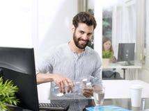Hombre de negocios agotador Imagen de archivo libre de regalías