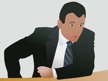 Hombre de negocios agresivo en la decisión Libre Illustration
