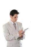 Hombre de negocios aislado Fotografía de archivo libre de regalías