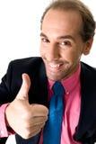 Hombre de negocios alegre Imagenes de archivo