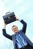Hombre de negocios alegre fotografía de archivo libre de regalías
