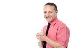 Hombre de negocios alegre alegre fotografía de archivo