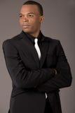 Hombre de negocios americano negro joven Foto de archivo libre de regalías
