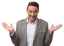 Hombre de negocios amistoso Foto de archivo libre de regalías