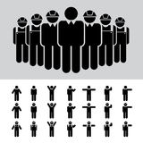Hombre de negocios, arquitecto, ingeniero, trabajador, sistema del icono. stock de ilustración