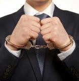 Hombre de negocios arrestado Imágenes de archivo libres de regalías