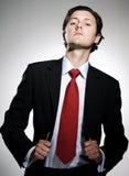 Hombre de negocios arrogante confidente Imagen de archivo libre de regalías