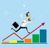 Hombre de negocios Arrow Up ilustración del vector